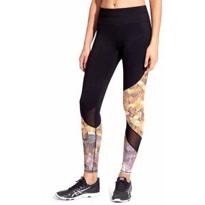 Athleta Black Sonar Printed Leggings